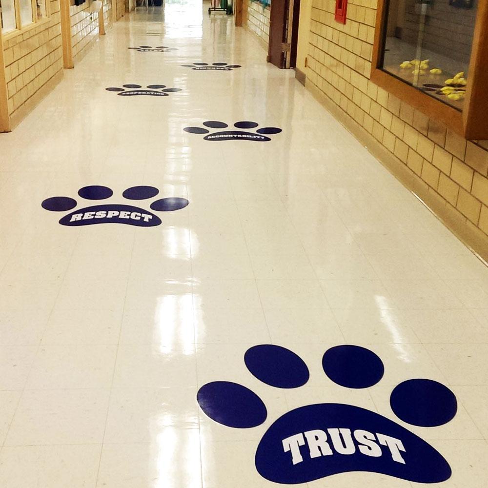 Floor Decal: School Spirit Builders, LLC
