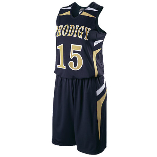 224364 School Spirit Builders Basketball Prodigy Jersey and Short Sample